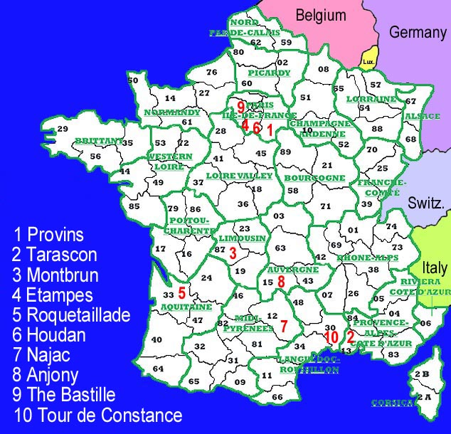 Areas Of France Map.France Locator Map