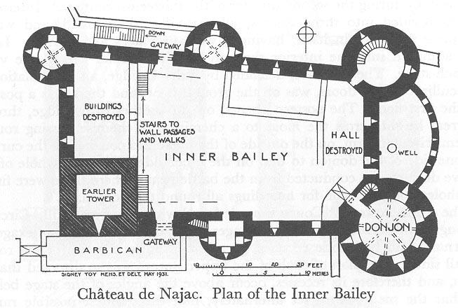 План замка в Нажаке